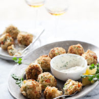 Crab Cake Poppers | FoodieCrush.com