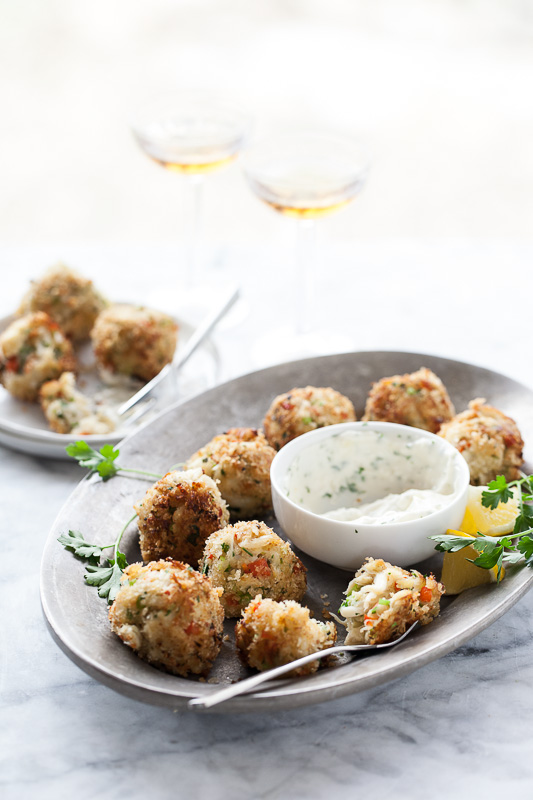 Crab Cake Poppers | FoodieCrush.com