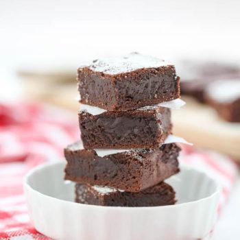 Dark Chocolate Brownies | foodiecrush.com