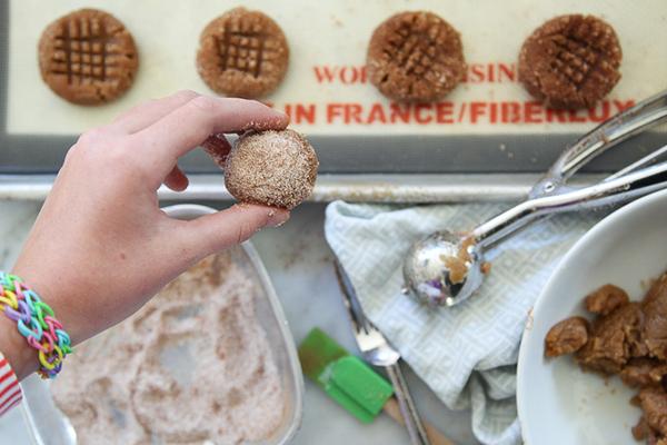 Flourless Peanut Butter Cookies 02 FoodieCrush.com
