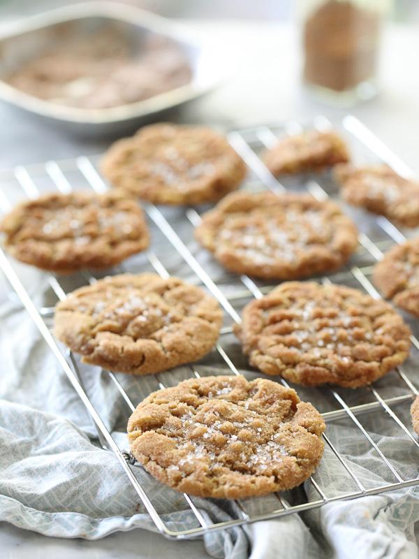 Flourless Peanut Butter Cookies 14 FoodieCrush.com