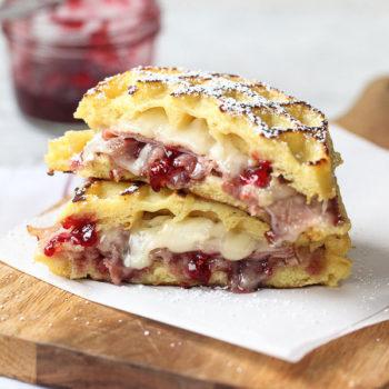 Monte Cristo Waffle Sandwich | foodiecrush.com