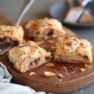 Apple and Cherry Phyllo Strudel | foodiecrush.com