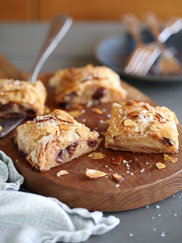 Apple and Cherry Phyllo Strudel | foodiecrush.com