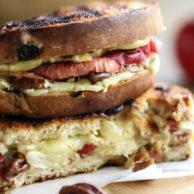 Brie Apple and Pecan Panini, the ultimate autumn sandwich   FoodieCrush.com 028