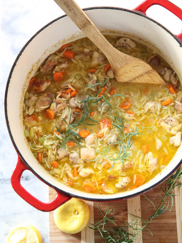 Lemon Chicken Stew in large stockpot