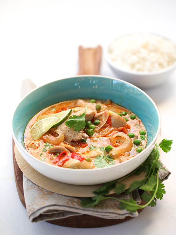 Slow Cooker Thai Chicken Soup | FoodieCrush.com