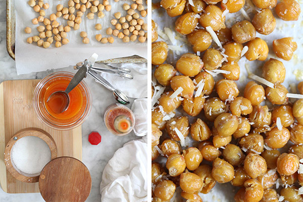 Spicy Tabasco Roasted Chickpeas | FoodieCrush.com
