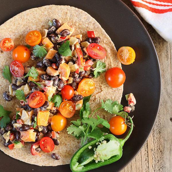 Sweet Potato and Black Bean Burritos | foodiecrush.com