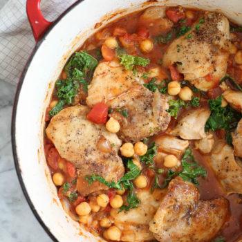 Tabasco Braised Chicken with Chickpeas | foodiecrush.com