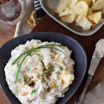 Porter Caramelized Onion Dip | foodiecrush.com