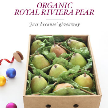 Harry and David Organic Royal Riviera Pears Giveaway | foodiecrush.com