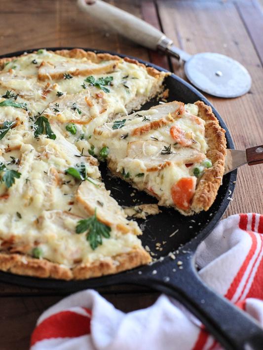 Chicken Pot Pie Pizza foodiecrush.com