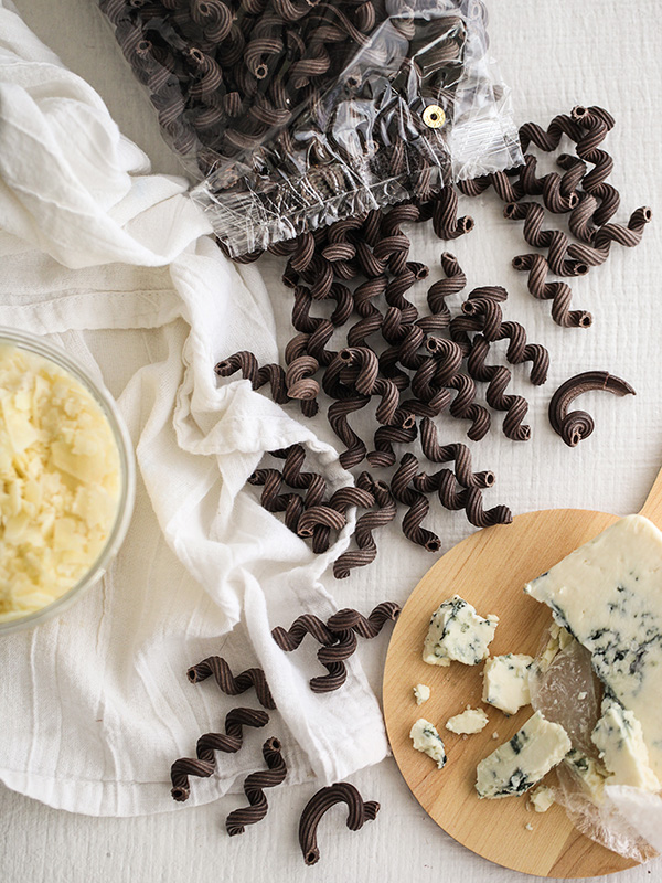 Chocolate Pasta with Gorgonzola Cream Sauce