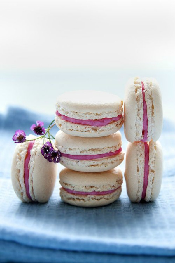 Chestnut Macarons with Pink Champagne II Mowielicious