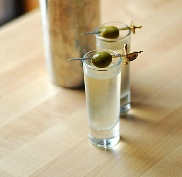 Dirty Vodka Martini Shooters II Ode to Awe