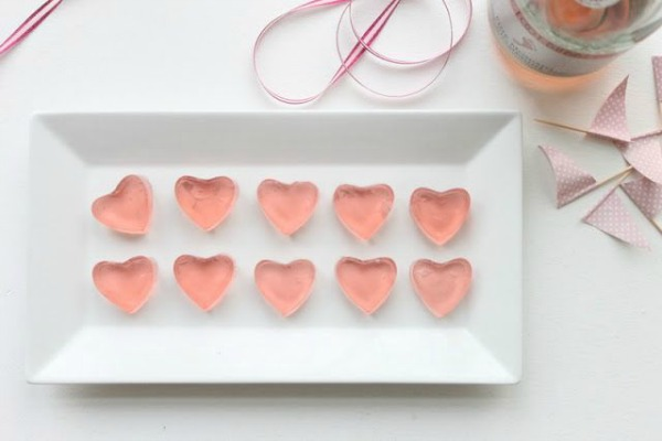 Pink Champagne Heart Shaped Jello Shots II That's so Michelle