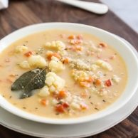 Quinoa and Cauliflower Chowder foodiecrush.com