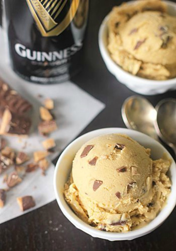Guinness Ice Cream with Chocolate Covered Toffee Bits II The Galley Gourmet