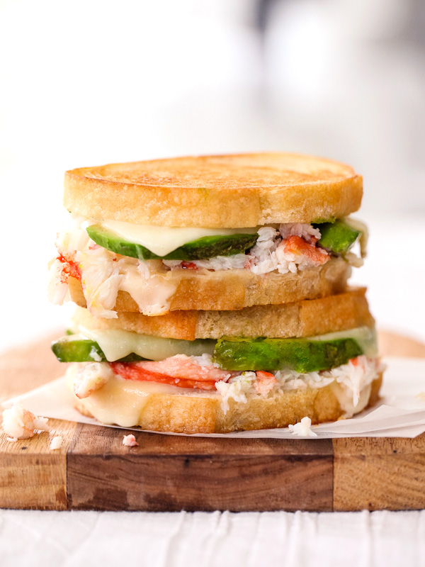 Crab andCrab and Avocado Grilled Cheese foodiecrush.com Avocado Grilled Cheese foodiecrush.com