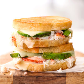 Crab and Avocado Grilled Cheese foodiecrush.com