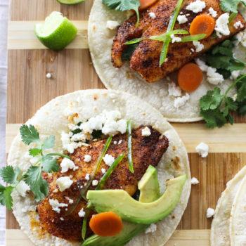 Spicy Fish Tacos foodiecrush.com