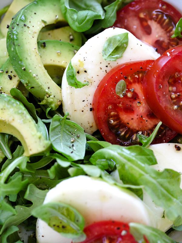Avocado Caprese Salad Foodiecrush.com