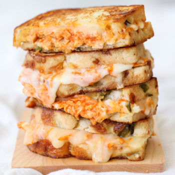 Buffalo Chicken Grilled Cheese foodiecrush.com