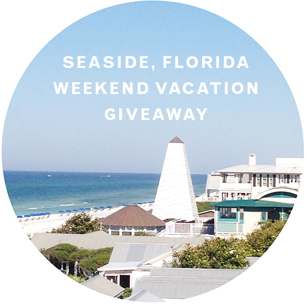 Seaside Florida Weekend Vacation Giveaway