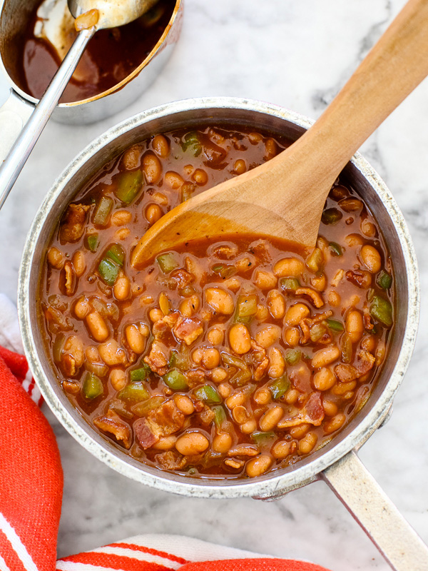 BBQ Baked Beans on foodiecrush.com