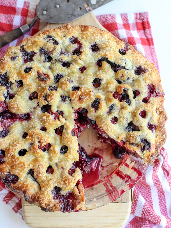 Four Berry Pie with all butter crust
