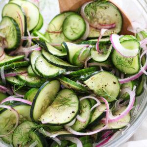 Dill Cucumber Salad on foodiecrush.com