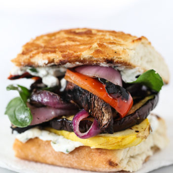 Grilled Vegetable Sandwich for foodiecrush.com