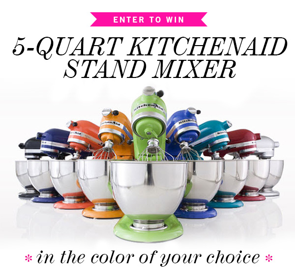 Because It's Summer KitchenAid 5-Quart Stand Mixer Giveaway on foodiecrush.com