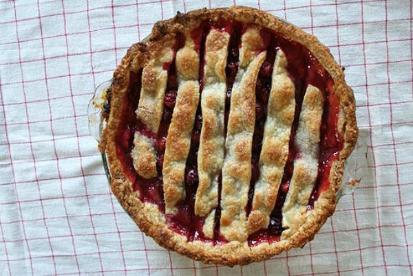 Sour Cherry Pie from Lottie + Doof on foodiecrush.com