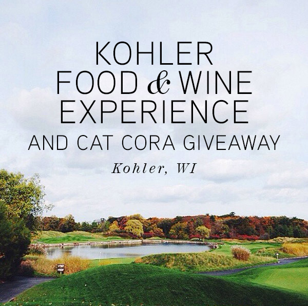 Kohler Food & Wine Experience and Cat Cora Giveaway