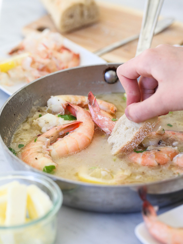 Peel n Eat Beer Steamed Shrimp #recipe on foodiecrush.com