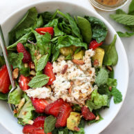 Strawberry and Avocado with Tuna Salad Recipe on foodiecrush.com