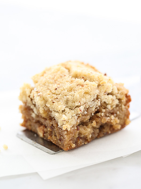 Apple Blondies with Cinnamon Almond Streusel