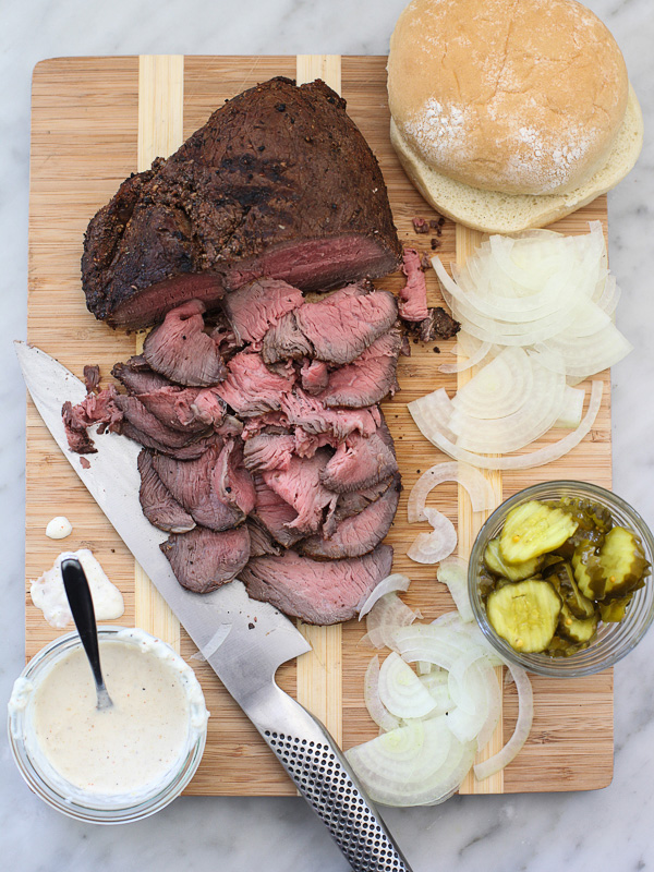 Sirloin Steak Sandwiches With Horseradish Sauce On Foodiecrush Com