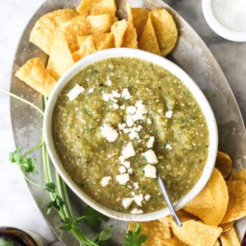 How to make salsa verde on foodiecrush.com