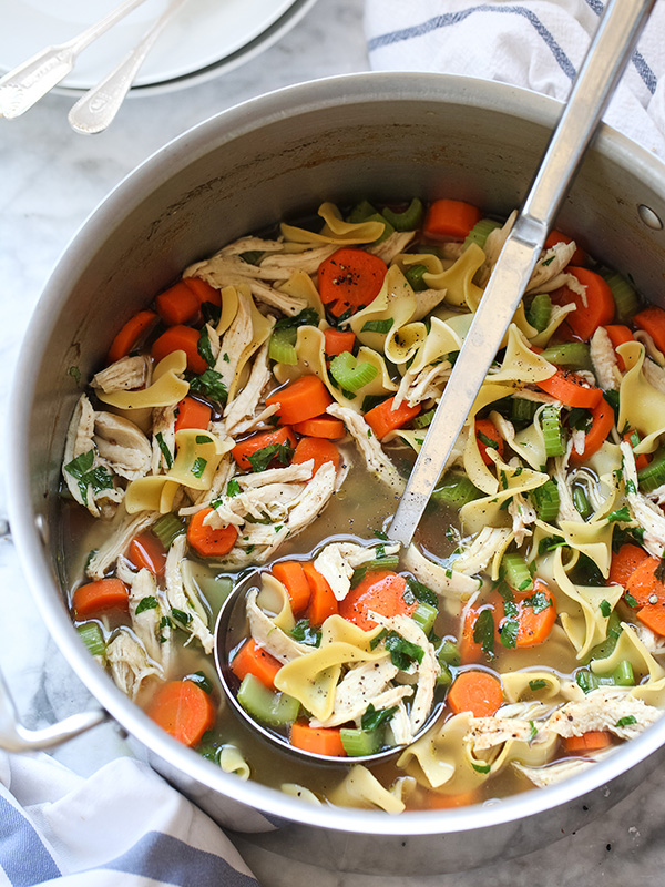 Homemade Chicken Noodle Soup recipe on foodiecrush.com