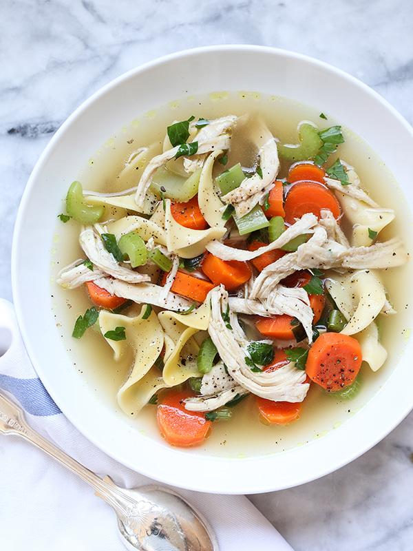 Homemade Chicken Noodle Soup recipe on foodiecrush.com