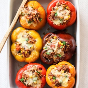 Baked Stuffed Bell Peppers With Beef Recipe