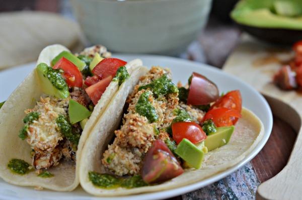 crispy eggplant tacos
