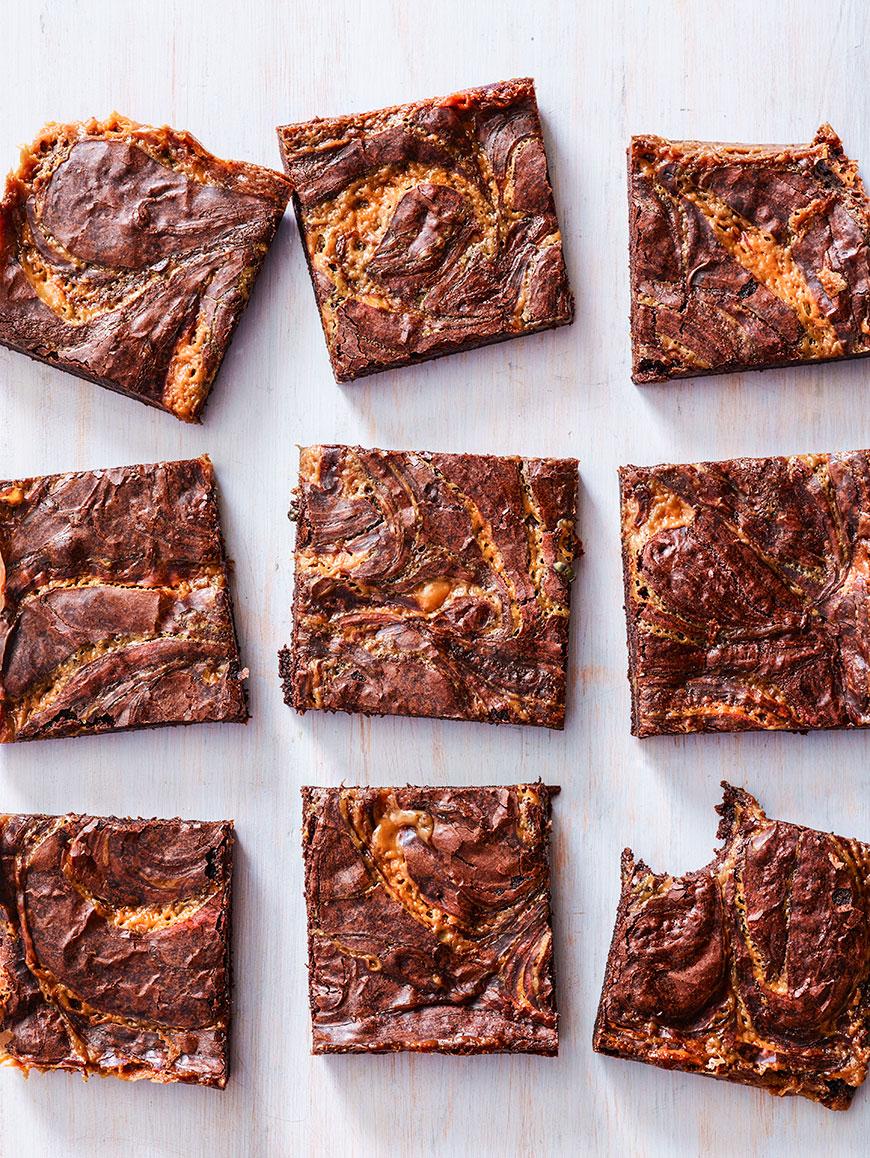 Caramel Brownies | whatsgabycooking.com