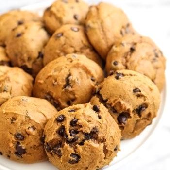 Pumpkin Chocolate Chip Cookies on foodiecrush.com