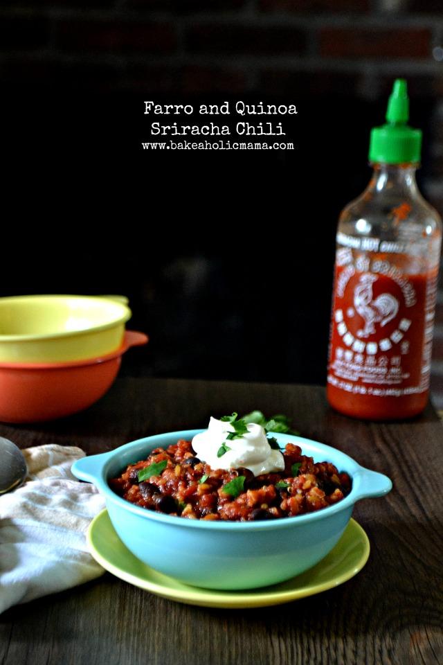 farro quinoa sriracha chili