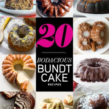 20 Bodacious Bundt Cake Recipes on foodiecrush.com