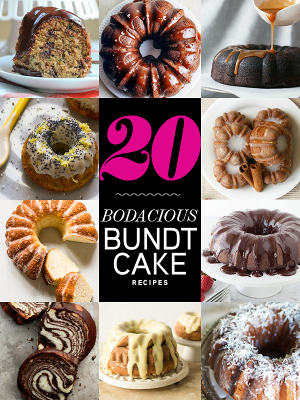 20 Bodacious Bundt Cake Recipes | foodiecrush.com #recipes #baking #bundtcake